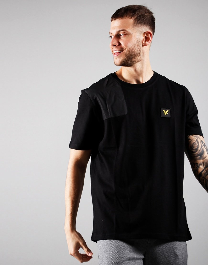 Lyle & Scott Ripstop Applique T-Shirt Jet Black