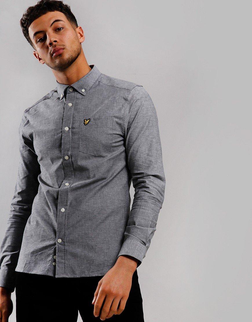 Lyle & Scott Slim Chambray Shirt Dark Grey