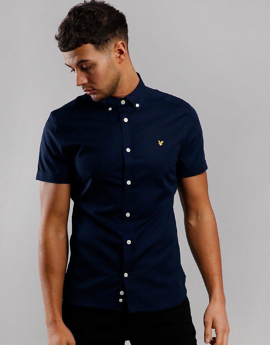 Lyle & Scott Slim Poplin Shirt Navy