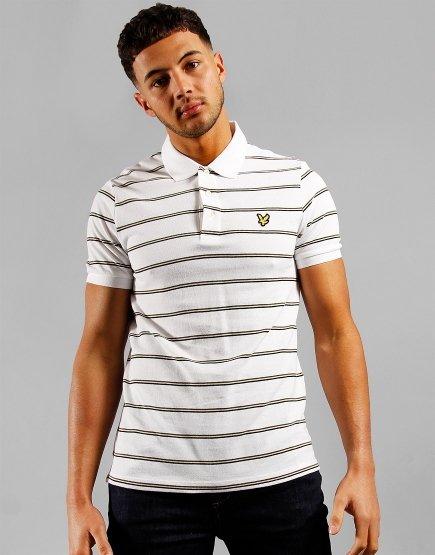 Lyle & Scott Stripe Polo Shirt White
