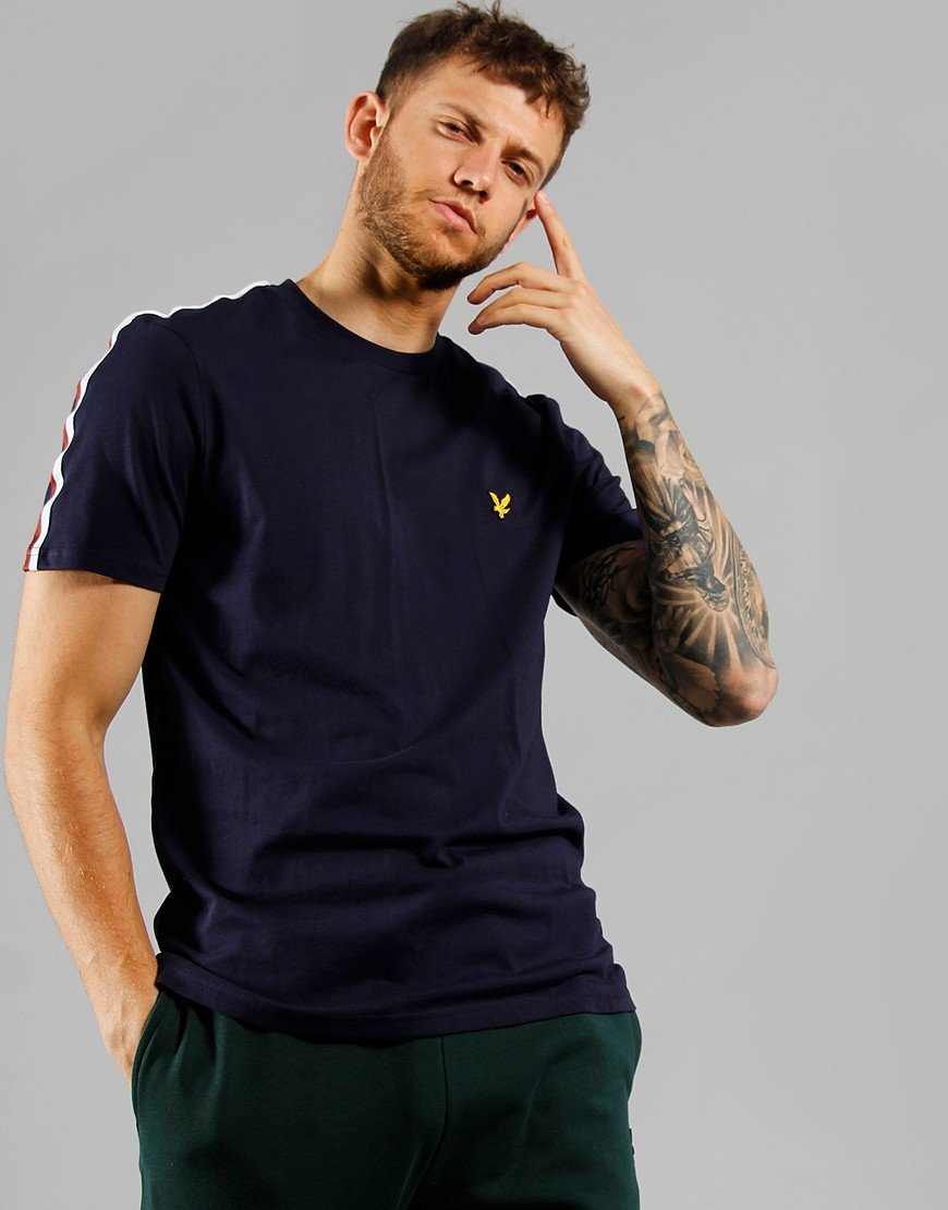 Lyle & Scott Taped T-Shirt Navy