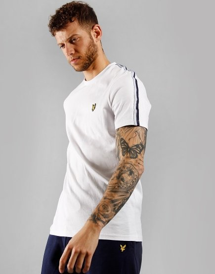 Lyle & Scott Taped T-Shirt White