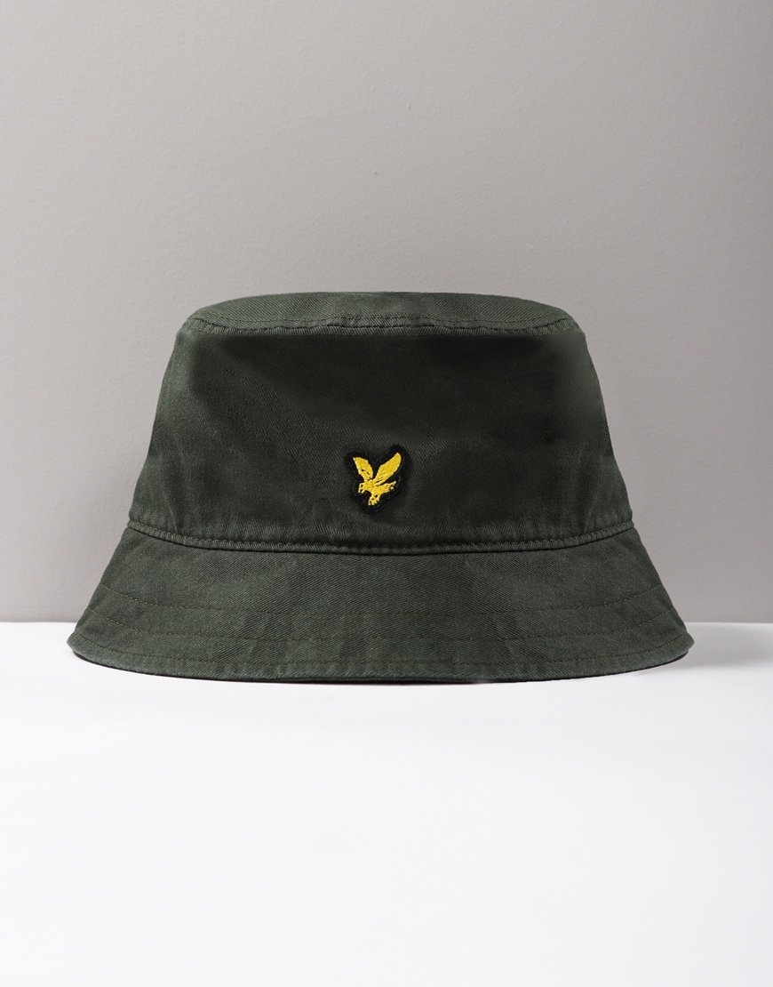 Lyle & Scott Twill Bucket Hat Jade Green