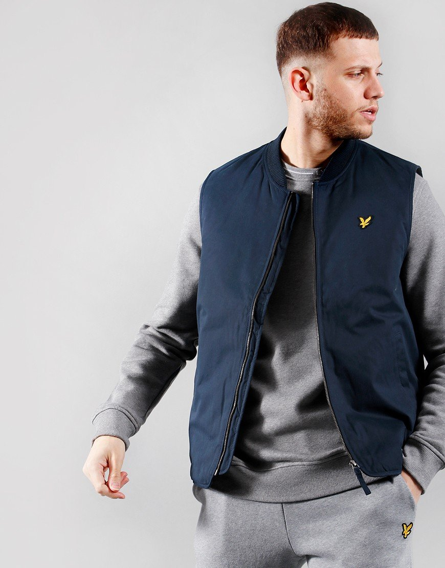 Lyle & Scott Wadded Gilet Dark Navy