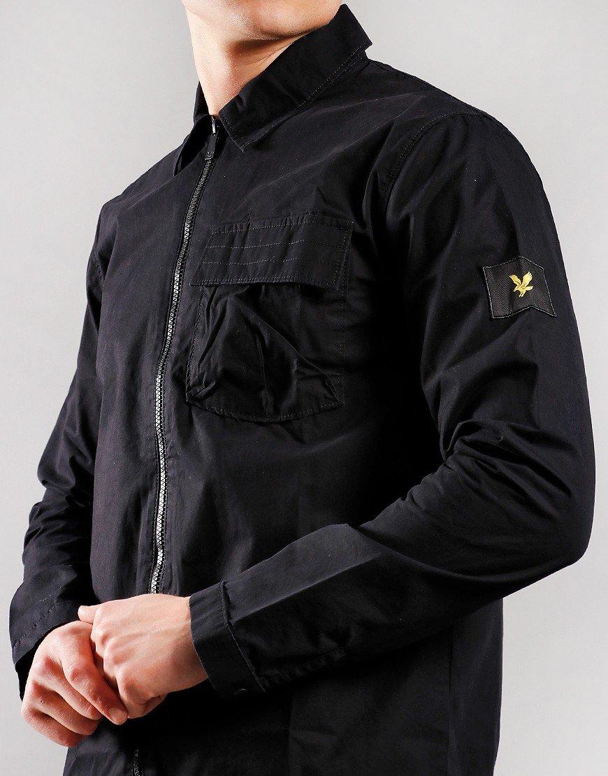 Lyle & Scott Zip Through Overshirt Black