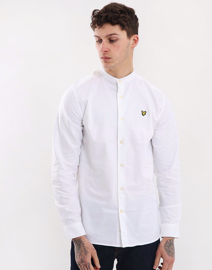 Lyle & Scott Stretch Garment Dyed Shirt White