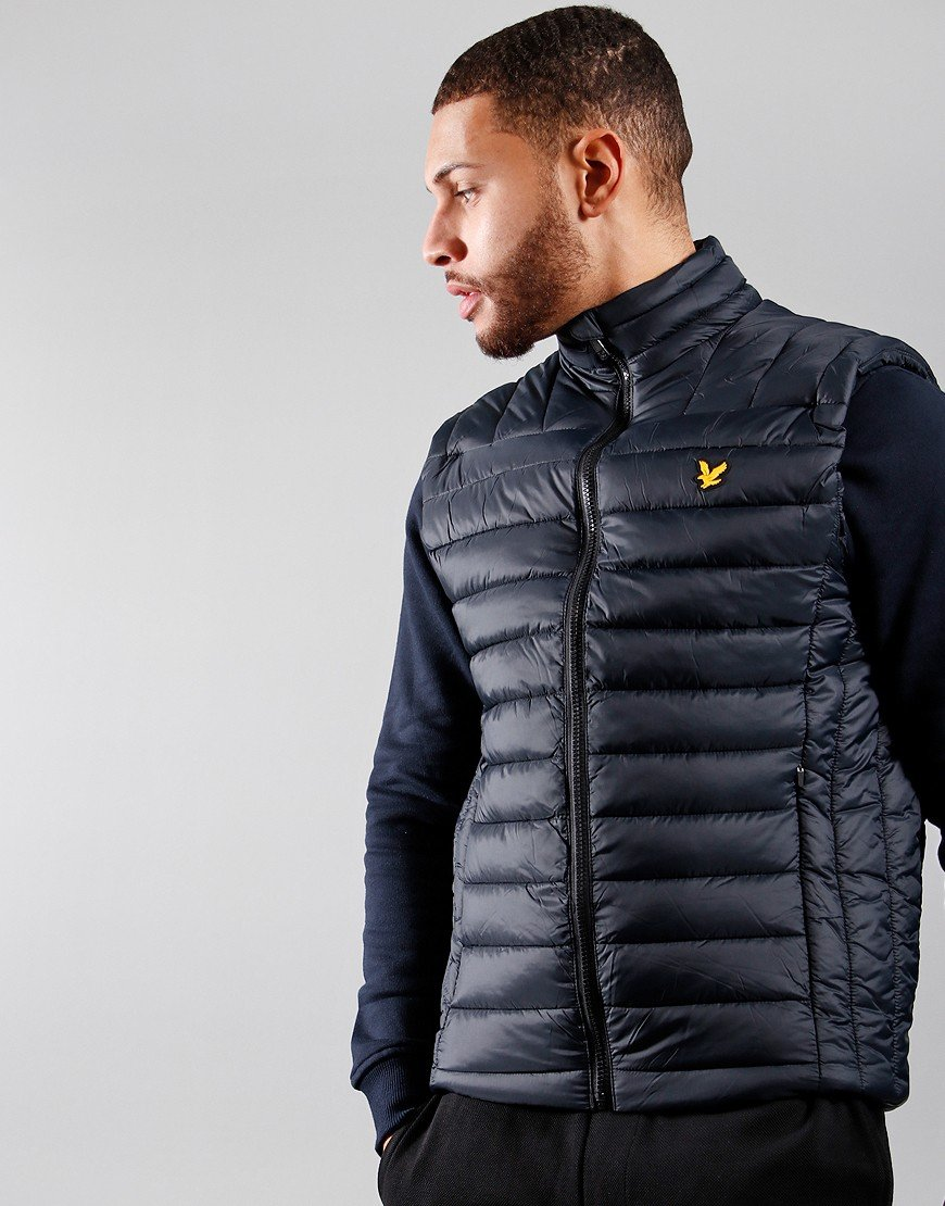 Lyle & Scott Lightweight Quilted Collar Gilet True Black