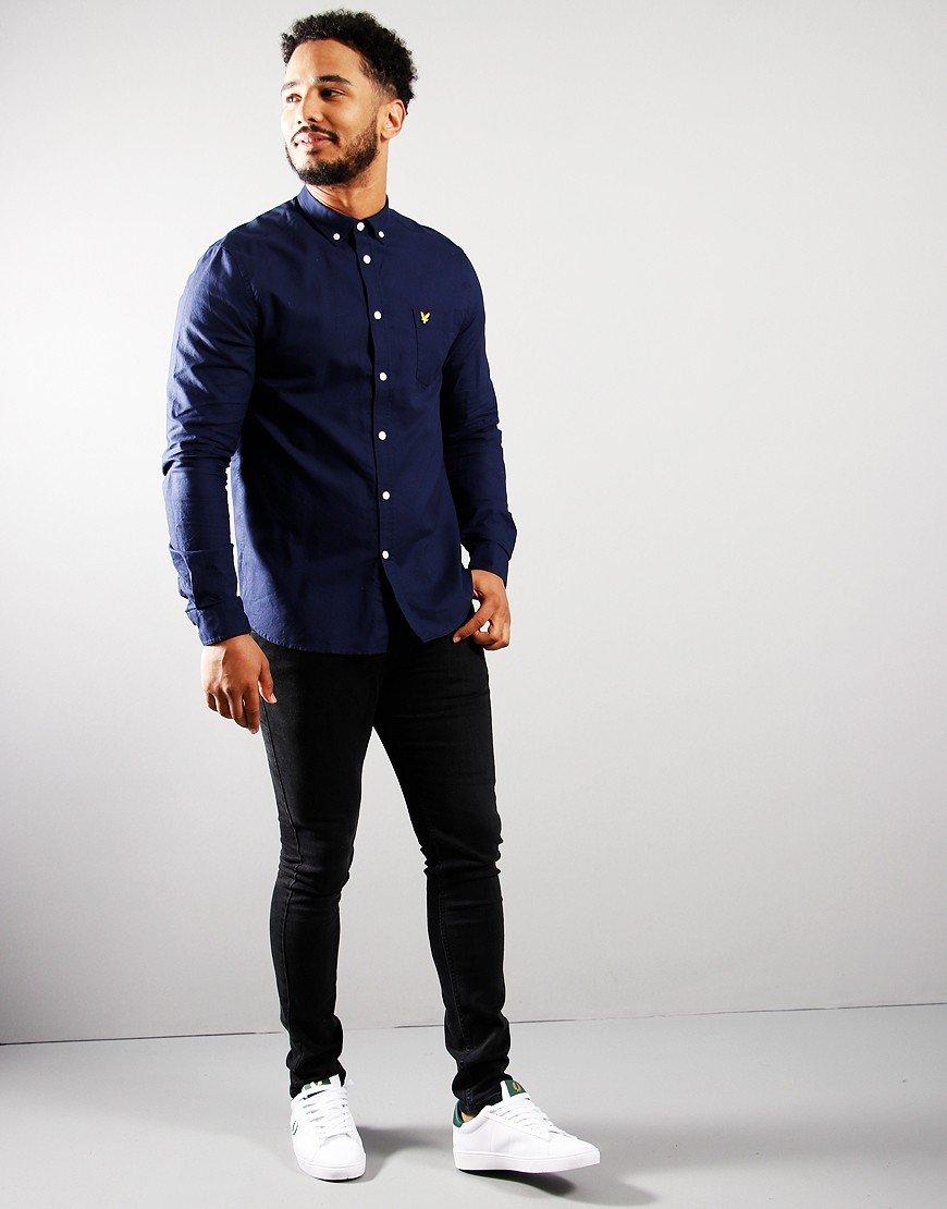 Lyle & Scott Long Sleeve Oxford Shirt Navy