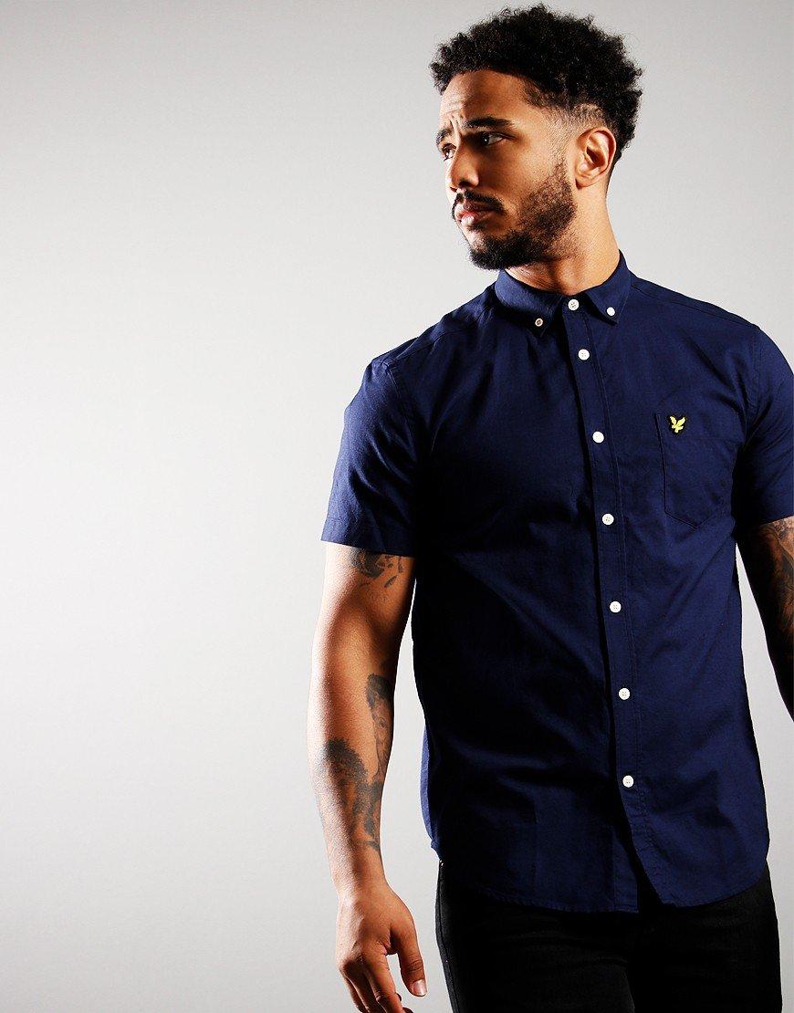 Lyle & Scott Short Sleeve Oxford Shirt Navy