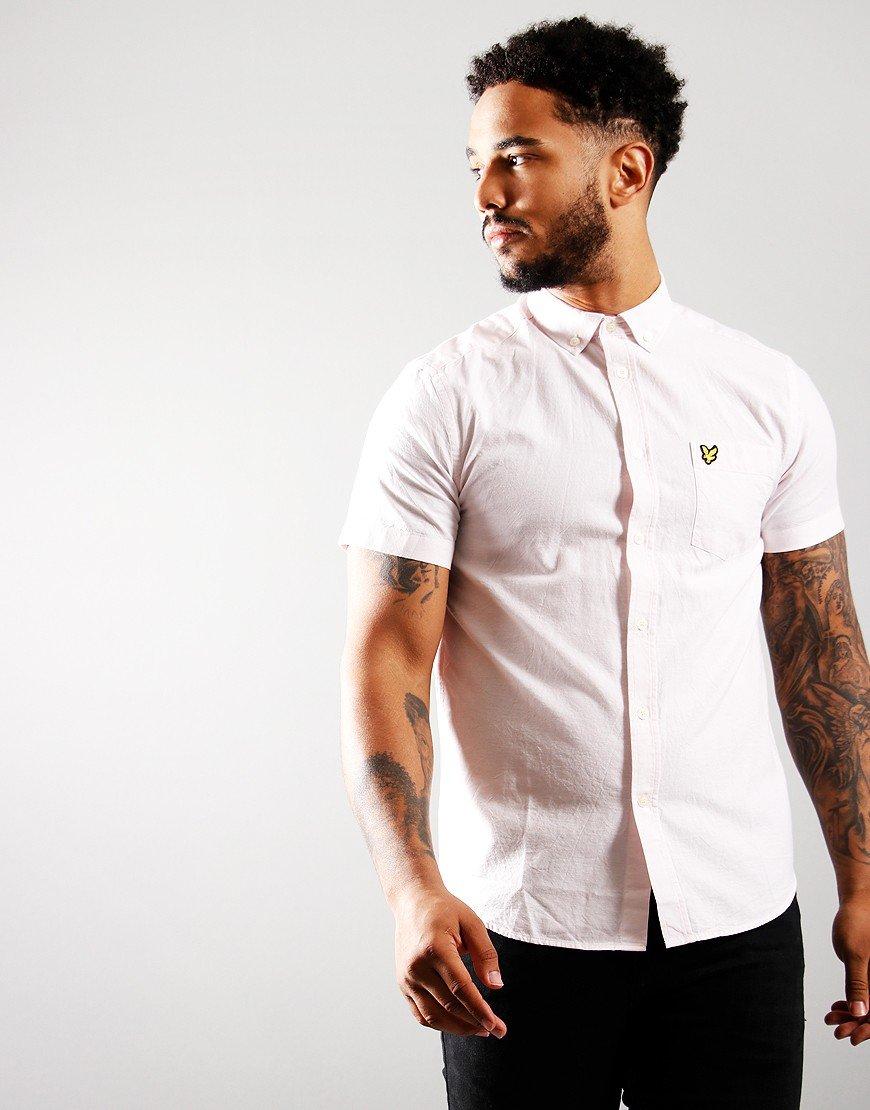 Lyle & Scott Short Sleeve Oxford Shirt Stone Wash