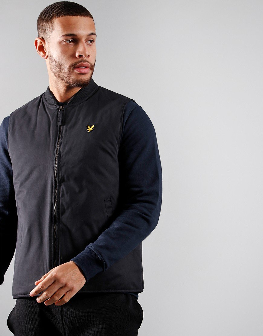 Lyle & Scott Wadded Gilet True Black