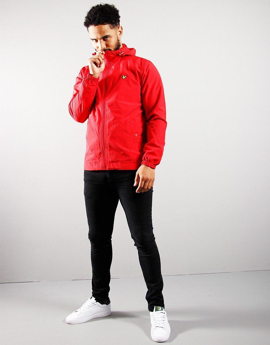 Lyle & Scott Zip Through Hooded Jacket Gala Red