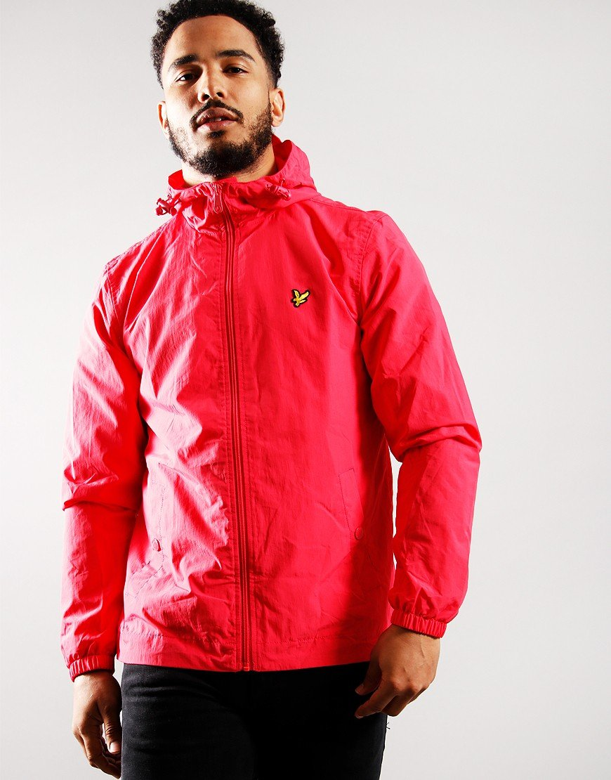 Lyle & Scott Zip Through Hooded Jacket Geranium Pink