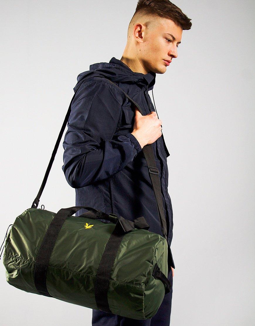 Lyle & Scott Lightweight Barrel Bag Jade Green