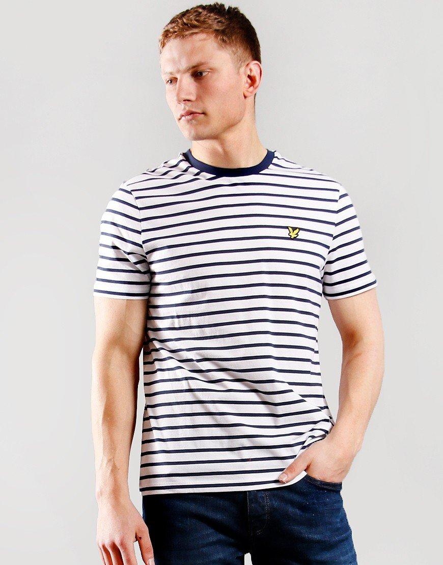 Lyle & Scott Breton T-Shirt Navy/White