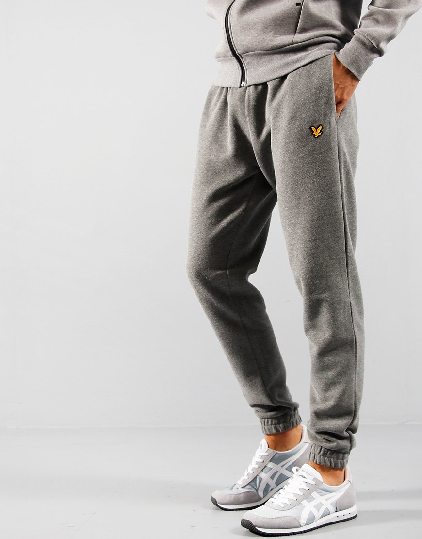 Lyle & Scott Fleece Track Pant Mid Grey Melange