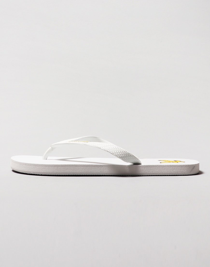 Lyle & Scott Flip Flops  White