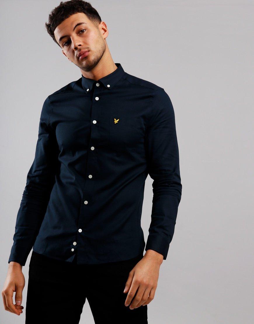 Lyle & Scott Slim Oxford Shirt Dark Navy