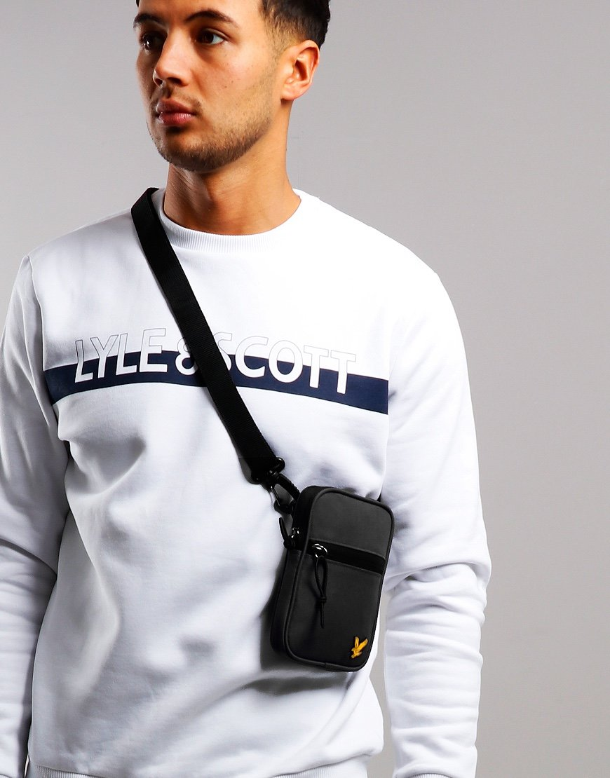 Lyle & Scott Mini Messenger Side Bag True Black