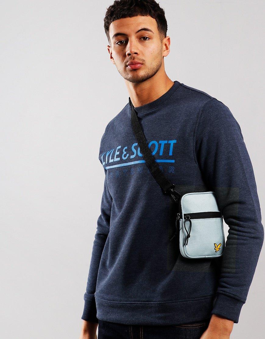 Lyle & Scott Mini Messenger Side Bag Glacier Grey