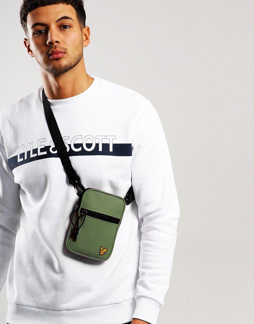 Lyle & Scott Mini Messenger Side Bag Lichen Green