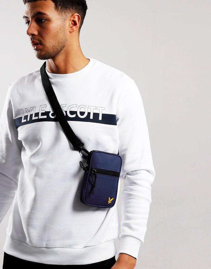 Lyle & Scott Mini Messenger Side Bag Navy