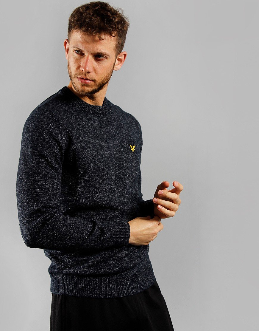 Lyle & Scott Mottled Jumper Dark Navy
