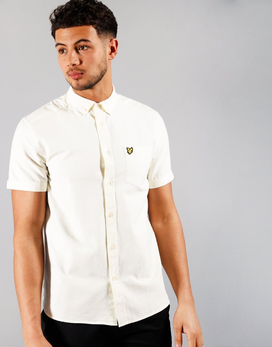 Lyle & Scott Oxford Shirt Buttercream/White
