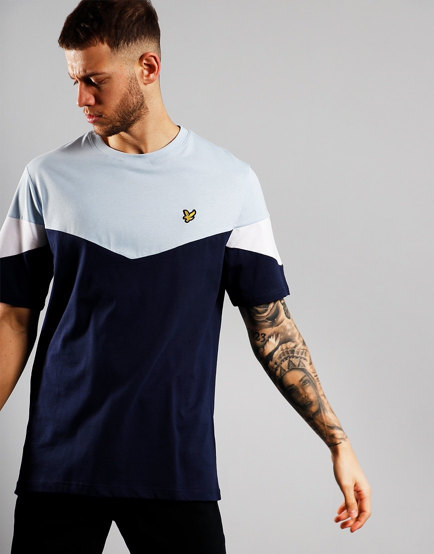 Lyle & Scott Multi Panel T-Shirt Pool Blue/Navy