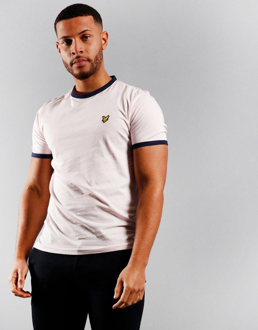 Lyle & Scott Ringer T-Shirt Strawberry Cream/Navy