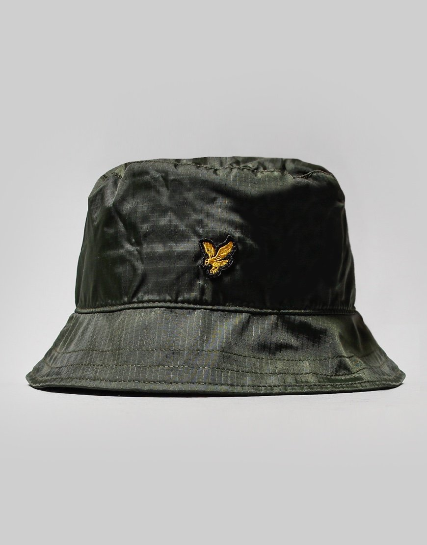 Lyle & Scott Ripstop Bucket Hat Woodland Green