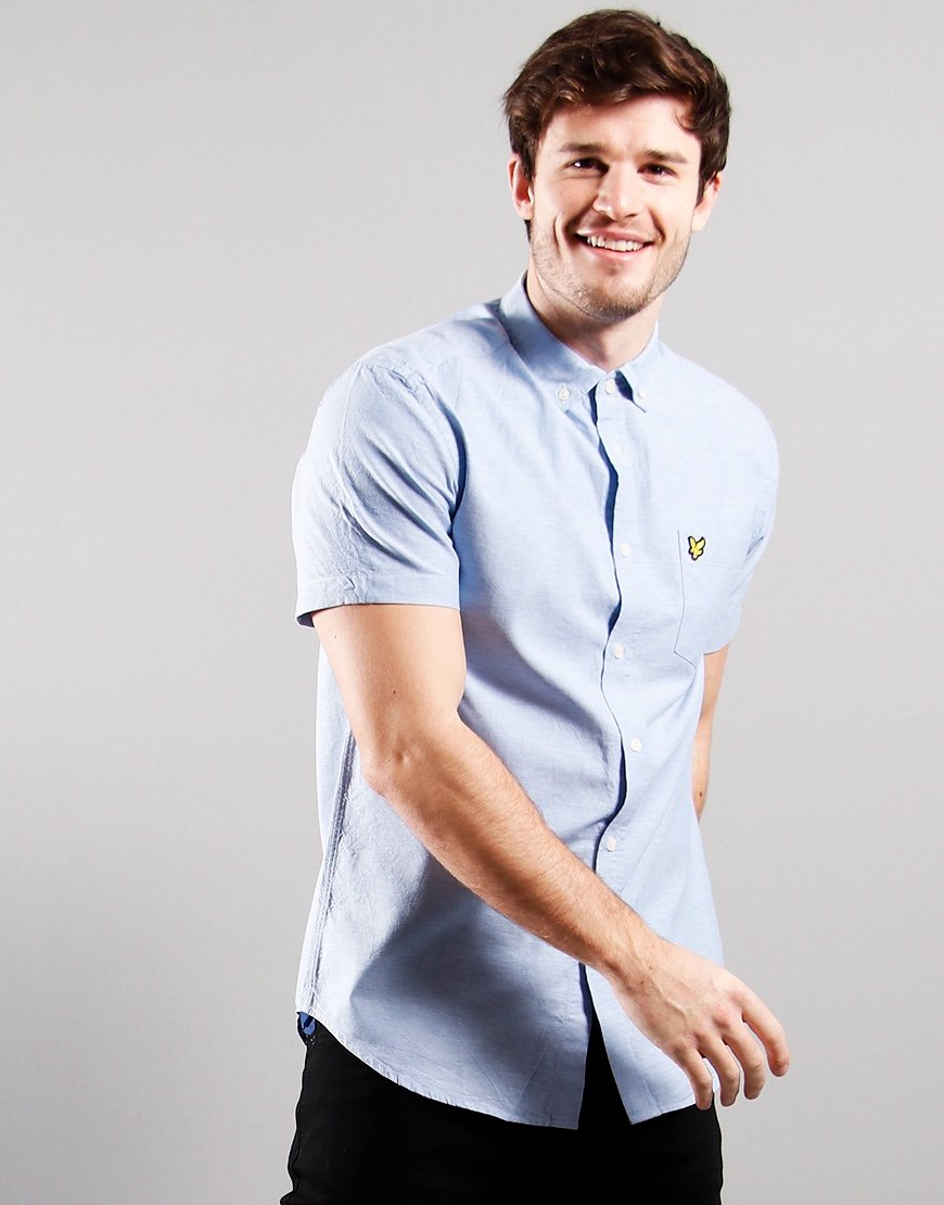Lyle & Scott Short Sleeved Oxford Shirt Riveria