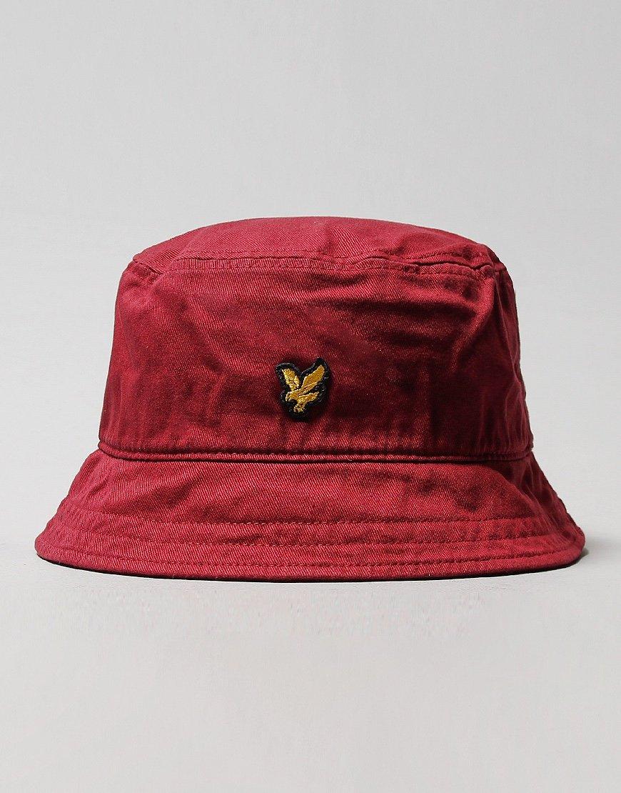 Lyle & Scott Cotton Twill Bucket Hat Merlot