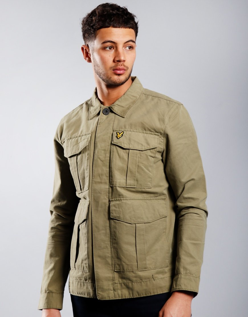 Lyle & Scott Utility Jacket Lichen Green