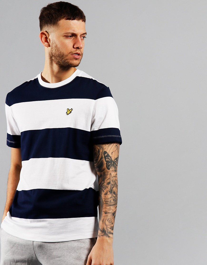Lyle & Scott Wide Stripe T-Shirt Navy