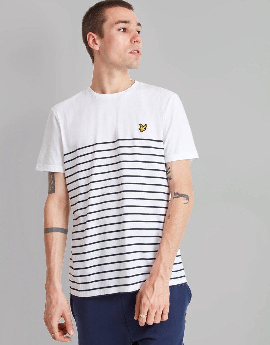 Lyle & Scott Breton T-Shirt White/Navy
