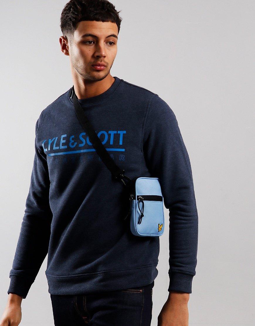 Lyle & Scott Mini Messenger Side Bag Stone Blue