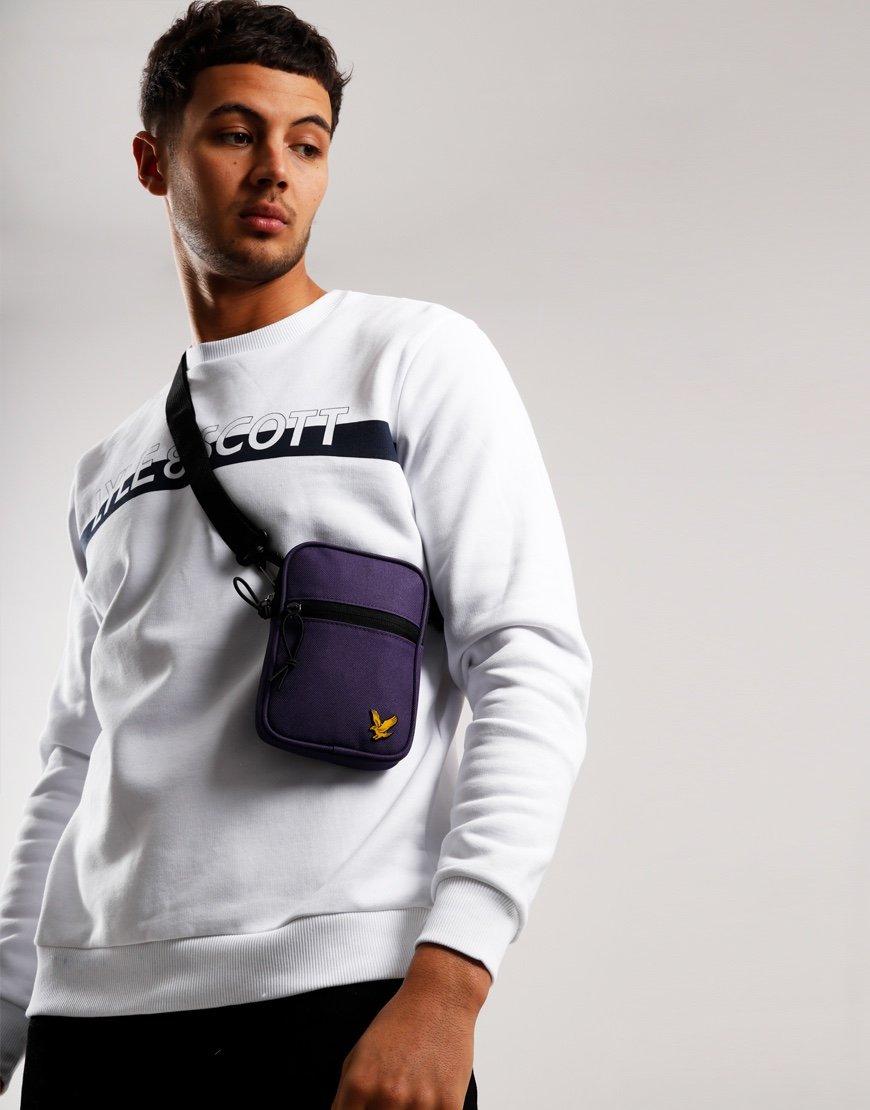 Lyle & Scott Mini Messenger Side Bag Violet