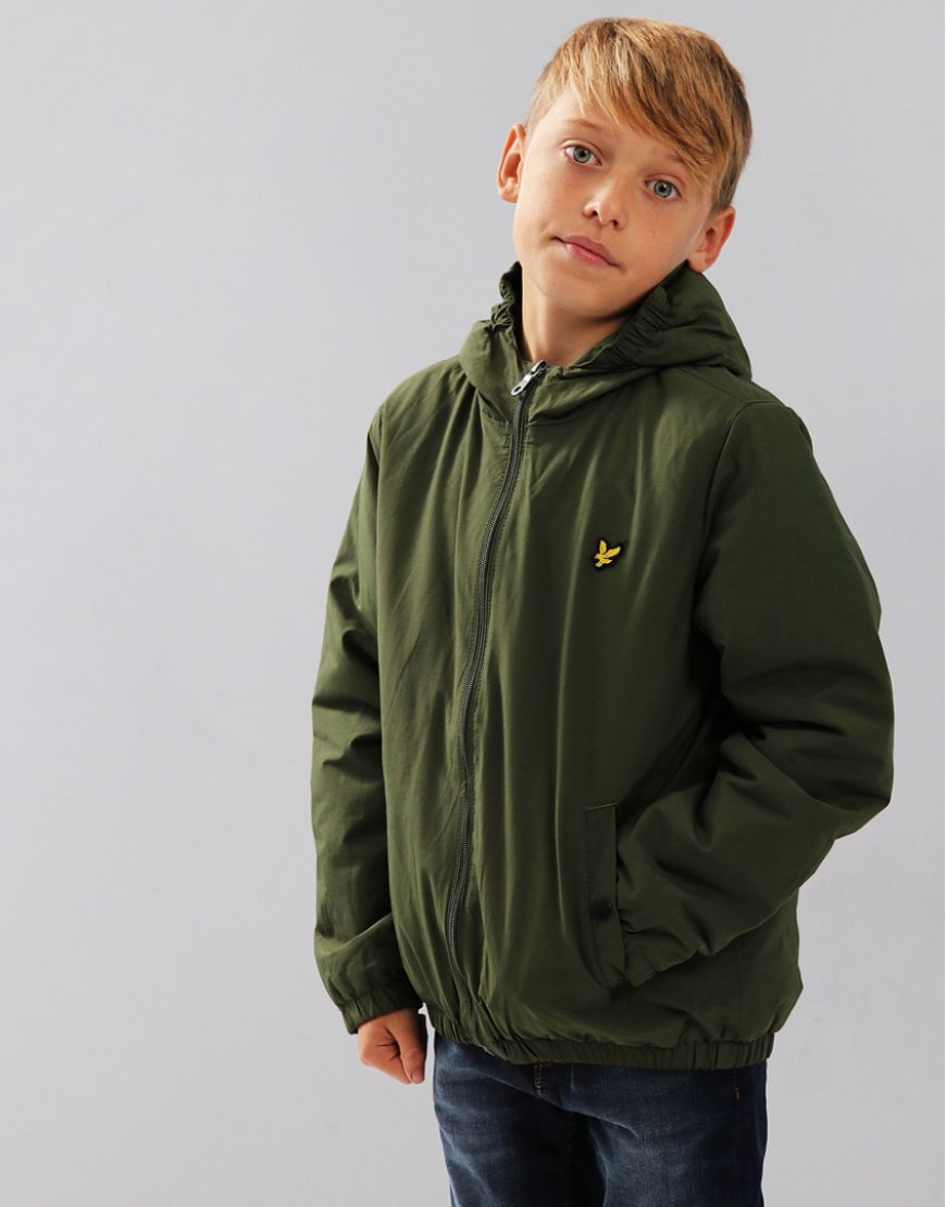 Lyle & Scott Junior Hooded Jacket Woodland Green