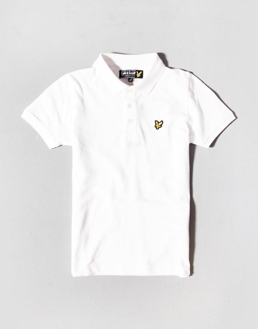 Lyle & Scott Junior Classic Polo Shirt Bright White