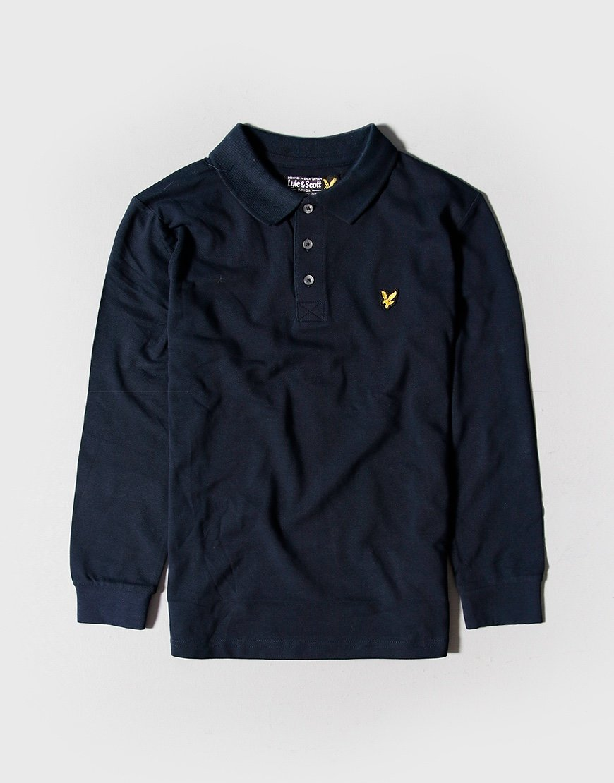 Lyle & Scott Junior Classic Long Sleeve Polo Shirt Navy