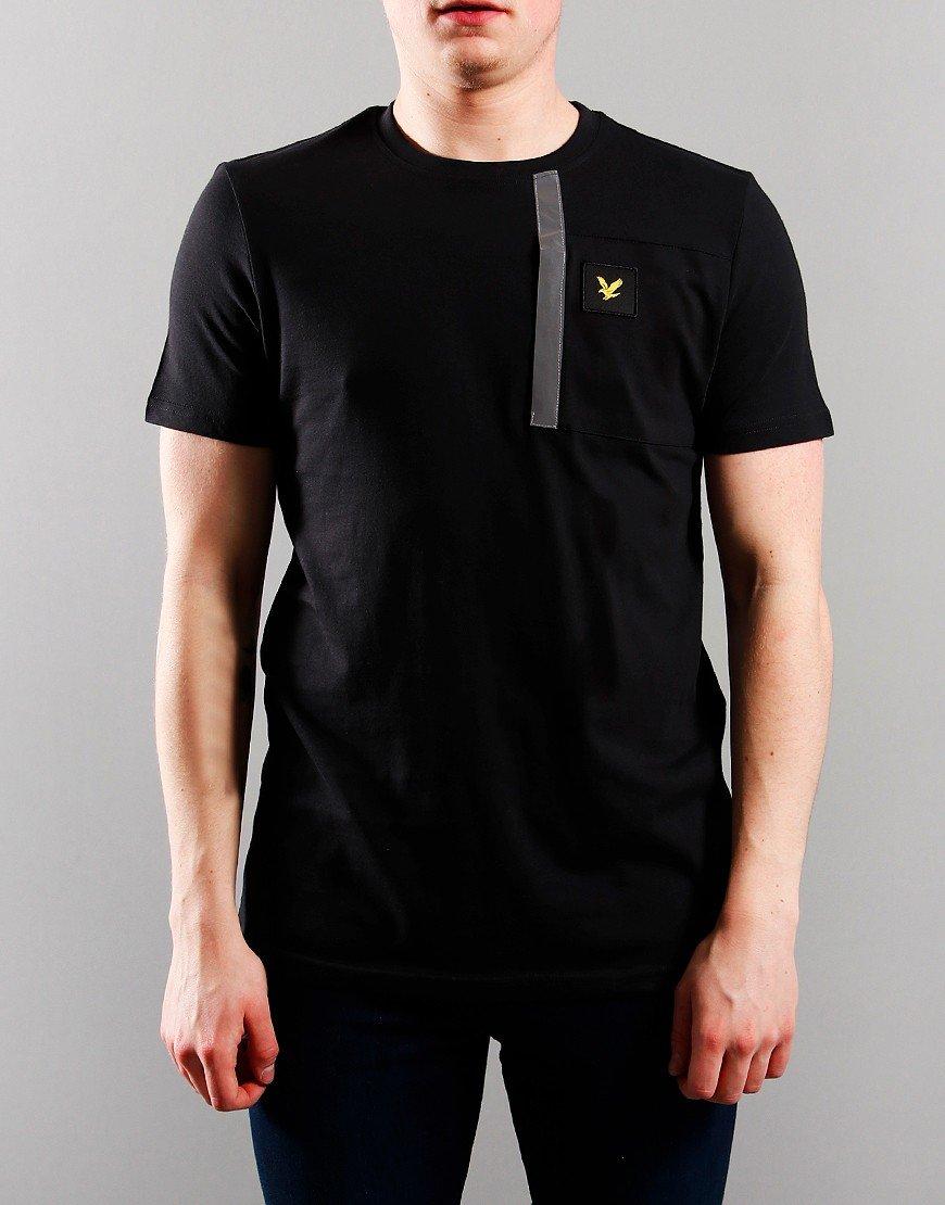 Lyle & Scott Junior Reflective Detail T-Shirt Black