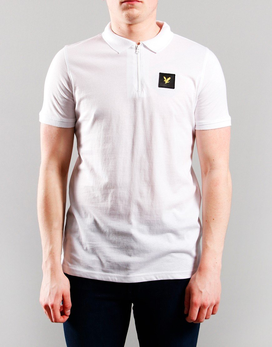 Lyle & Scott Junior Zip Detail Polo Shirt White