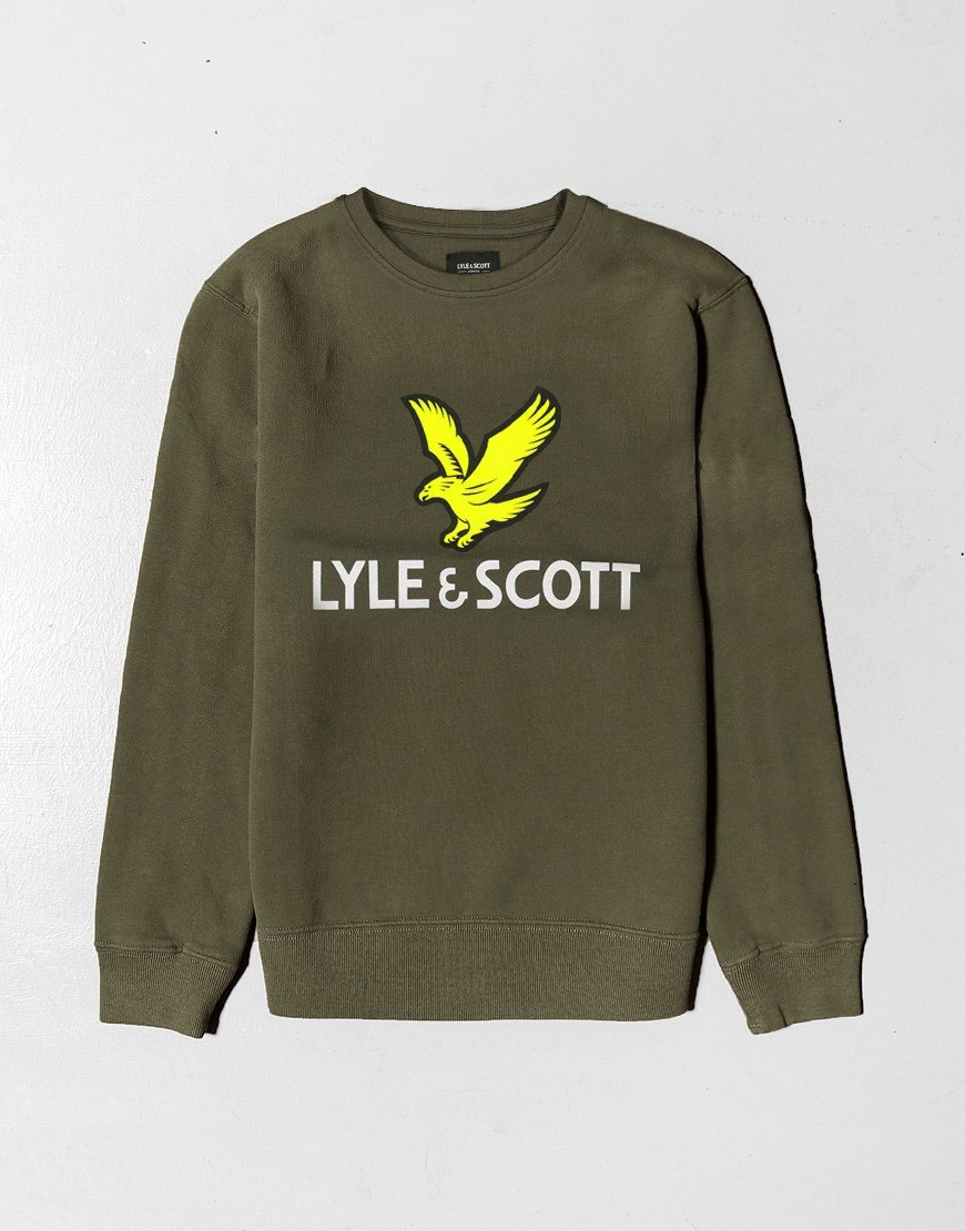 Lyle & Scott Junior Eagle Crew Neck Sweat Grape Leaf