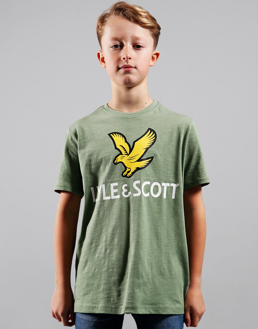 Lyle & Scott Junior Eagle Slub T-Shirt Hedge Green