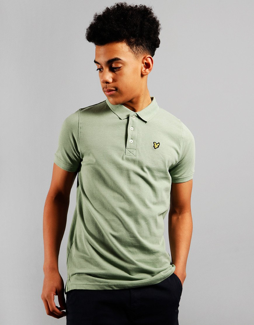 Lyle & Scott Junior Classic Plain Polo Shirt Hedge Green