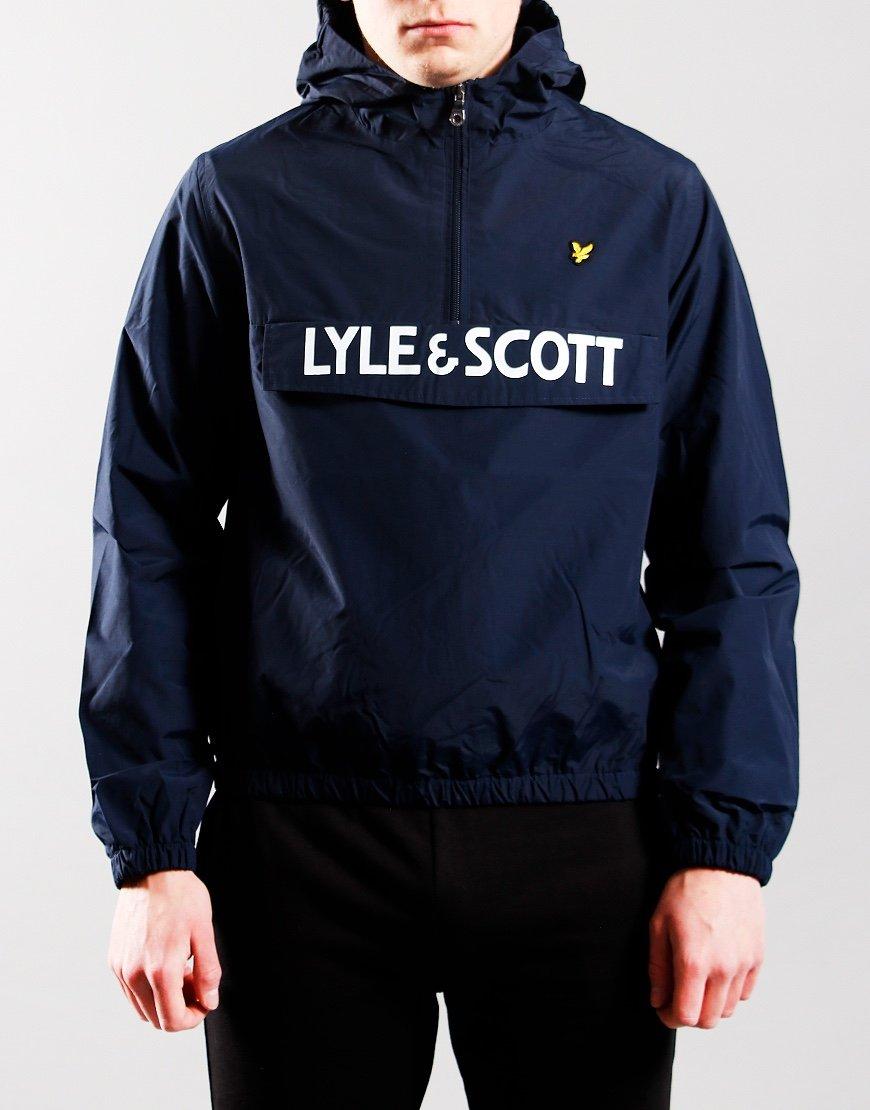 Lyle & Scott Junior Over The Head Windcheater Navy Blue