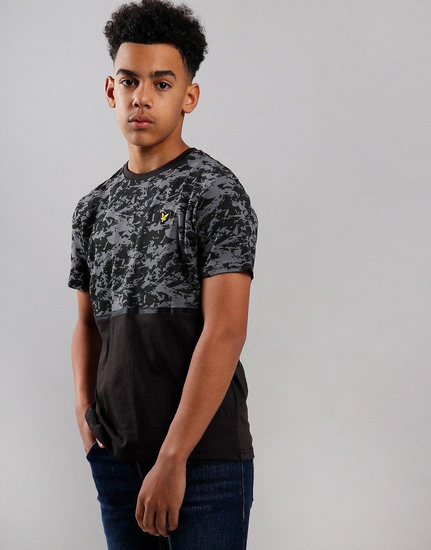 Lyle & Scott Junior AOP Block Print T-Shirt Black