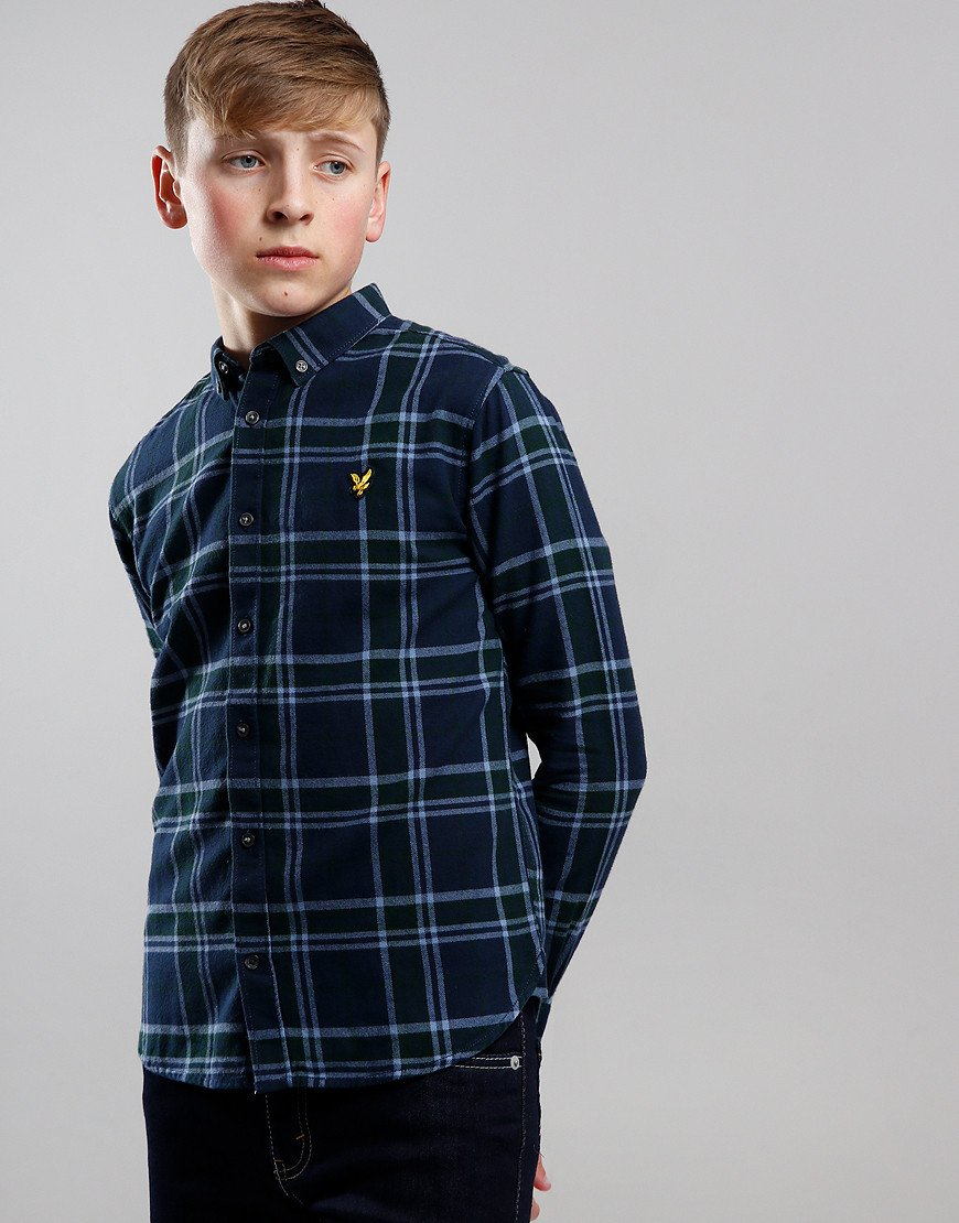 Lyle & Scott Junior Check Flannel Long Sleeve Shirt Pine Grove