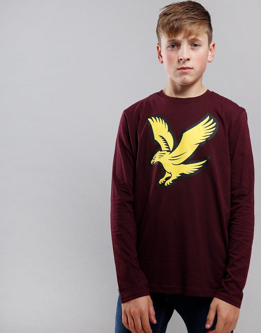 Lyle & Scott Junior Eagle Logo Long Sleeve T-Shirt Winetasting